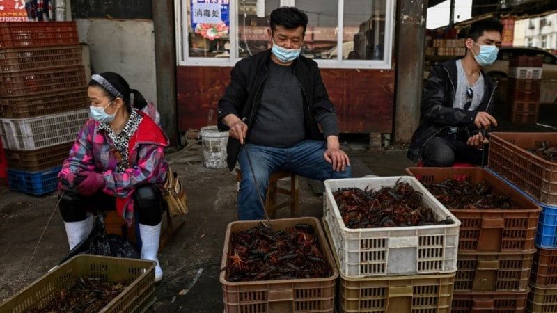 Market in Wuhan.afp