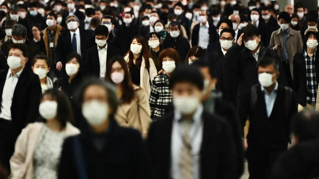 Mask Hot Property in Japan.afp