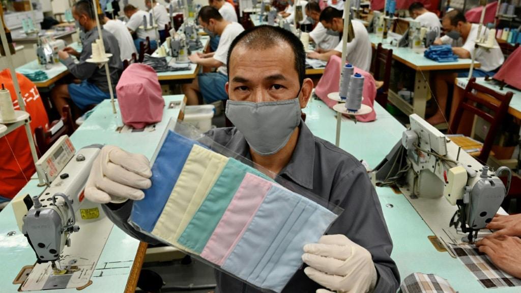 Masks Made by Taiwan Inmate.afp