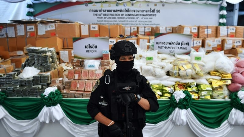 Massive Batch of Confiscated Drugs Set to be Destroyed in Thailand.afp