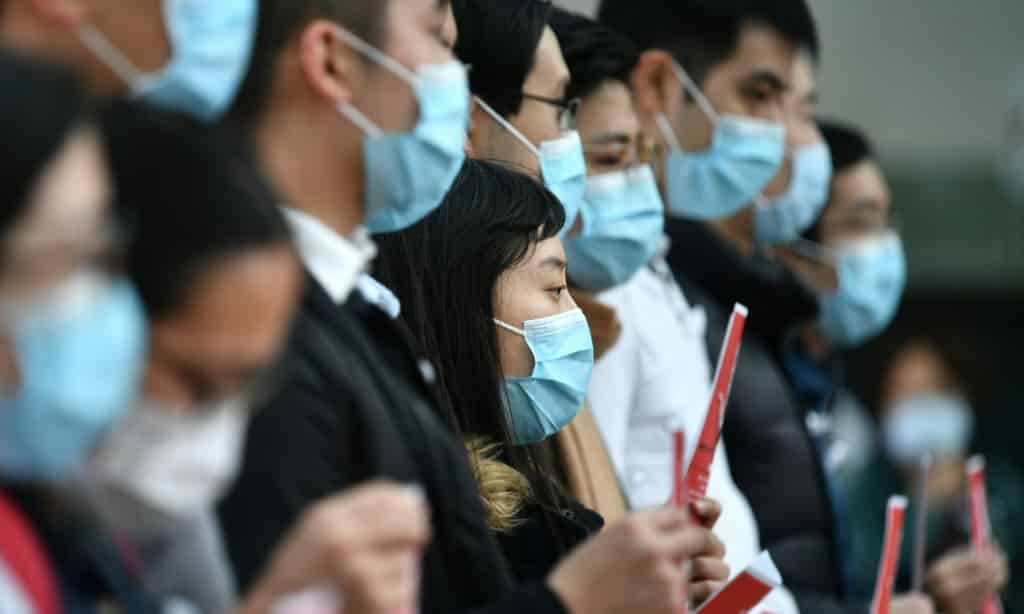Medical Workers on Strike Hong Kong.afp