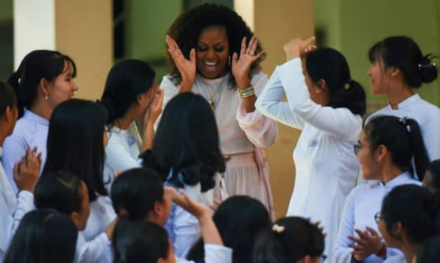 Michelle Obama, Julia Roberts Promote Education for Girls in Vietnam