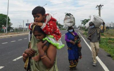 Stranded by Virus Lockdown, India Migrant Workers Walk Home