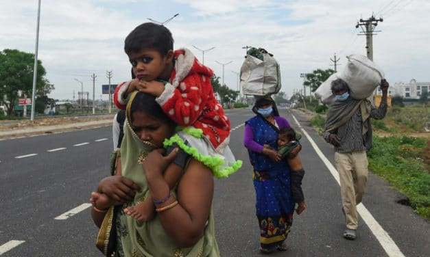 Stranded by Virus Lockdown, India Migrant Workers Walk Home