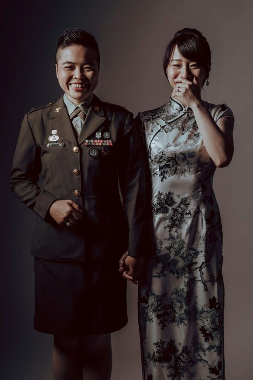 Military Mass Wedding Couple