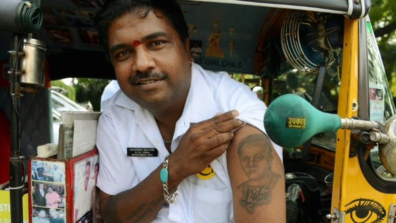 Mumbai Rickshaw Driver a Bollywood Enthusiast.afp