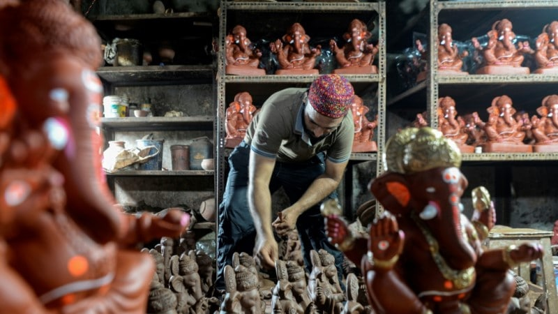 Muslim Potter in Mumbai