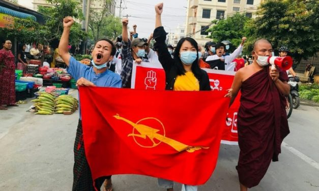 Myanmar Military Shoots at Protesting Medical Workers