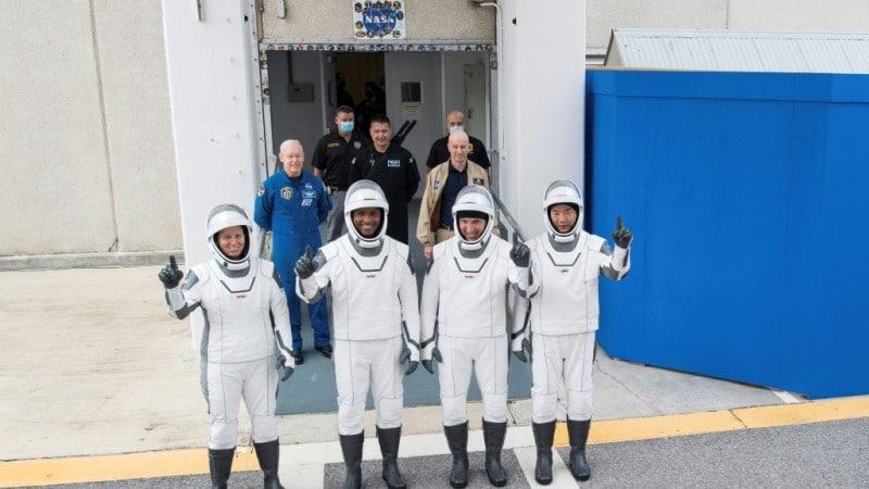 NASA Astronauts Rehearsal