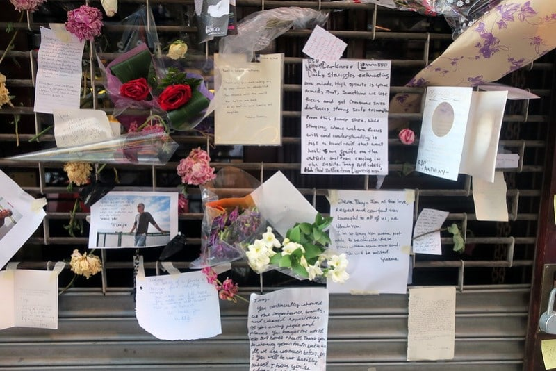 NYC - Les Halles - Anthony Bourdain Memorial ©Wally Gobetz