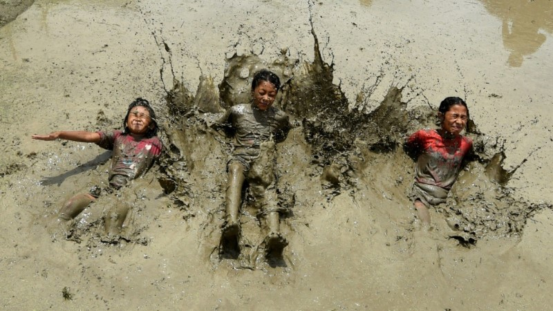 National Paddy Day in Nepal.afp