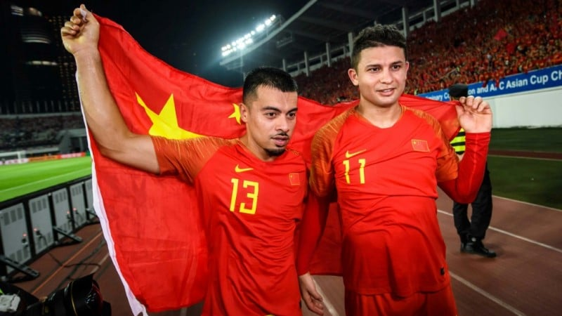 Naturalized Chinese Li and Elkeson