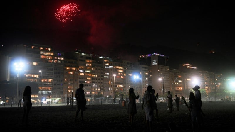 New Year's Fireworks in Brazil