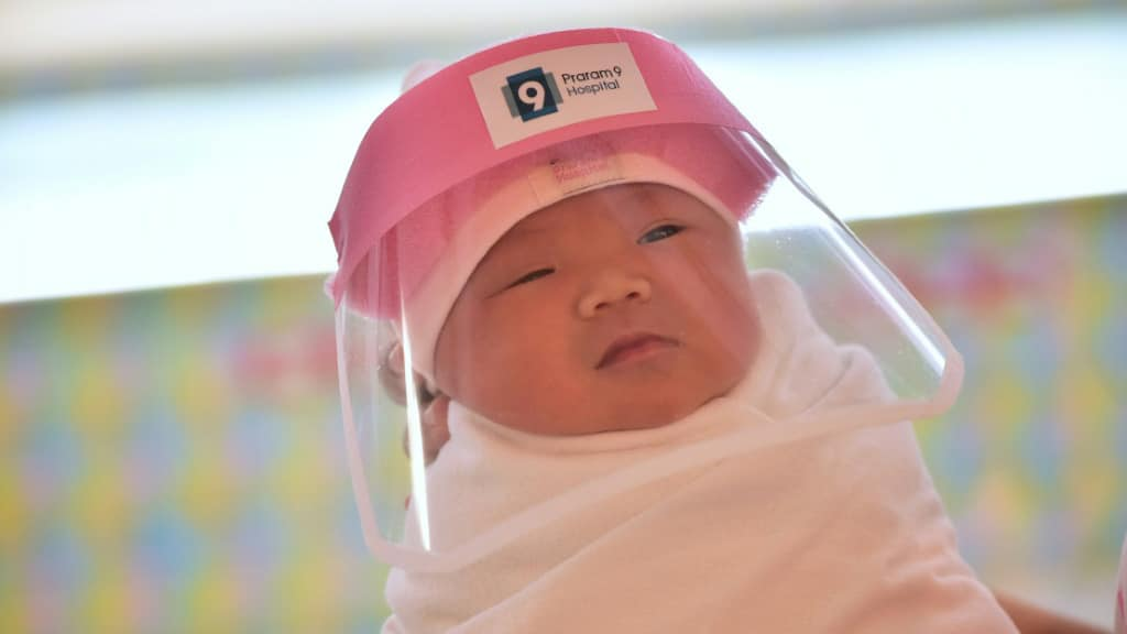 Newborn at Praram 9 Hospital in Bangkok.afp