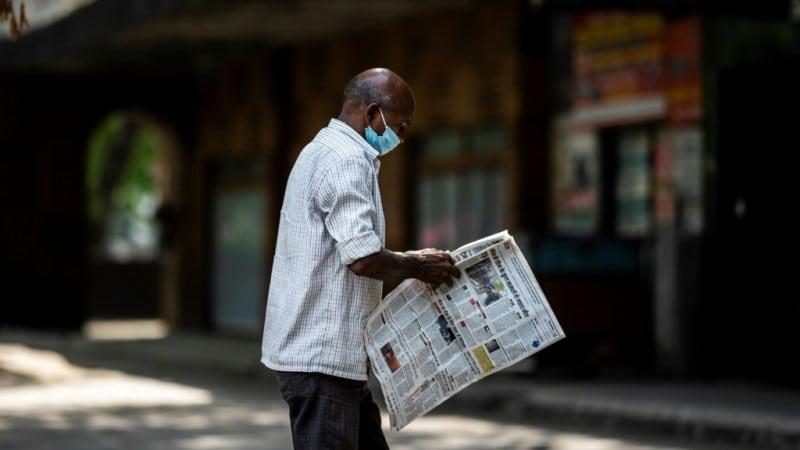 Newspaper Sales Devastated by Virus Lockdown in India.afp