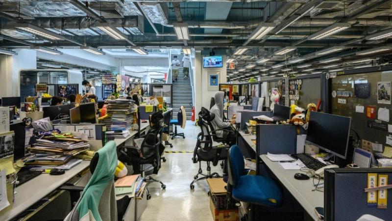 Newsroom of Apple Daily