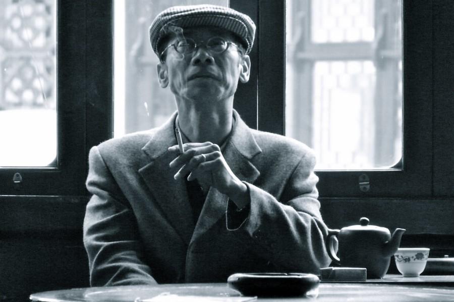 Old Man Smoking - China