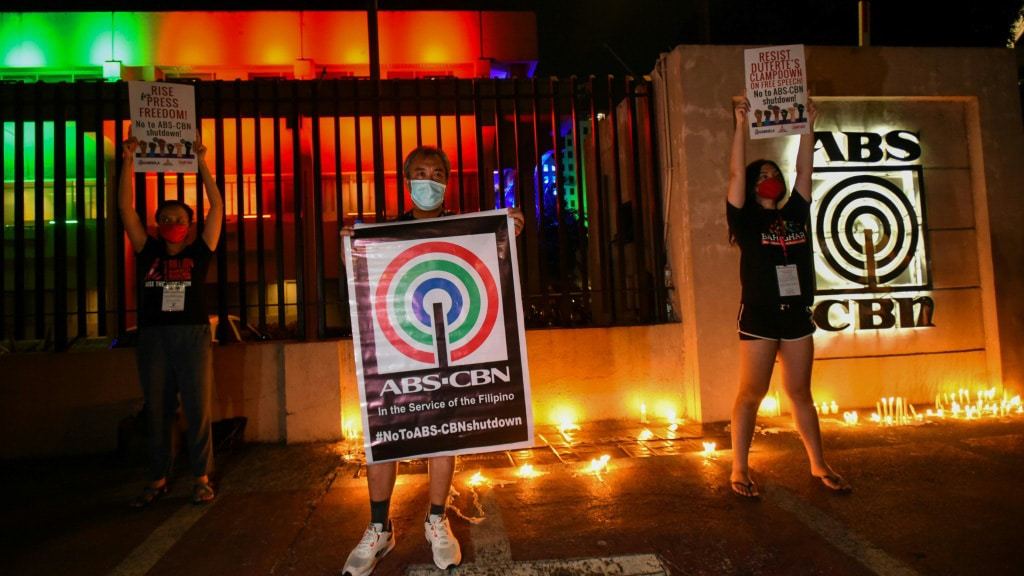 Outside of ABS-CBN's Compound.afp