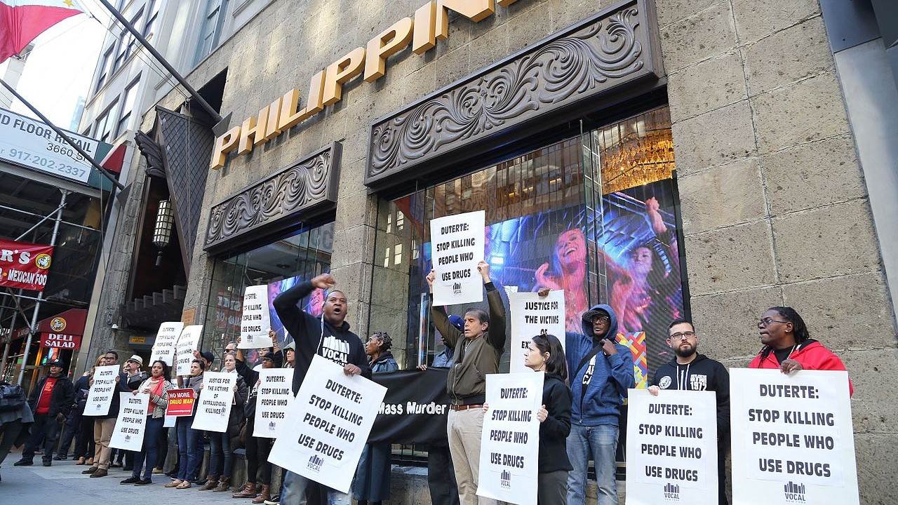 War On Drugs Protest Philippines
