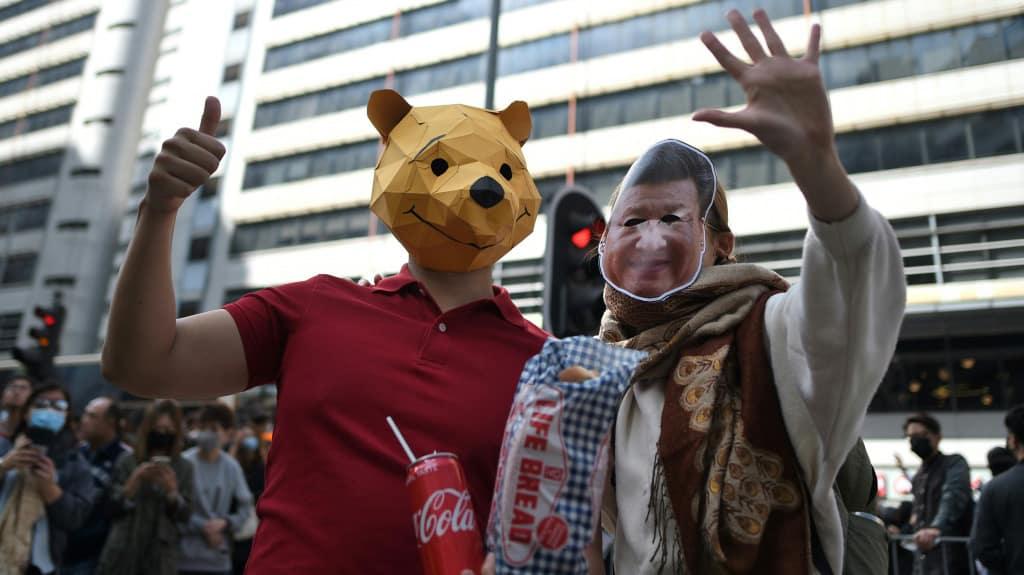 Pooh Hong Kong Protest ©AFP