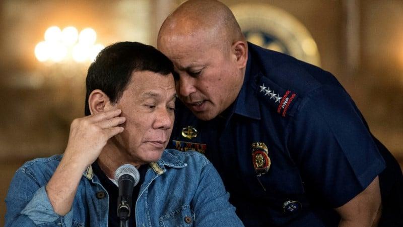 President Duterte and Police Chief Ronald Dela Rosa