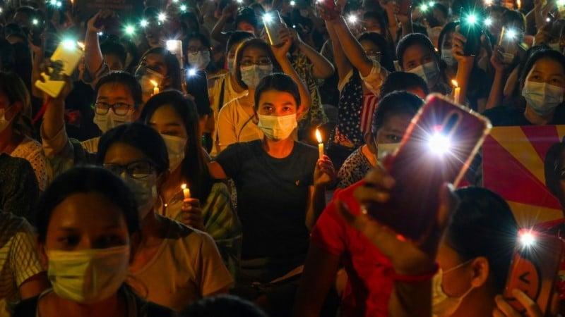 Pro-democracy posters Myanmar
