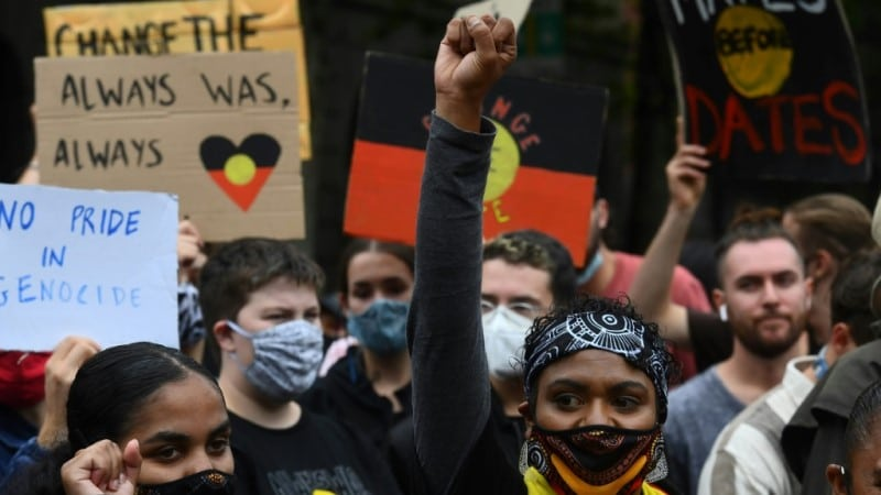 Protest on Australia Day