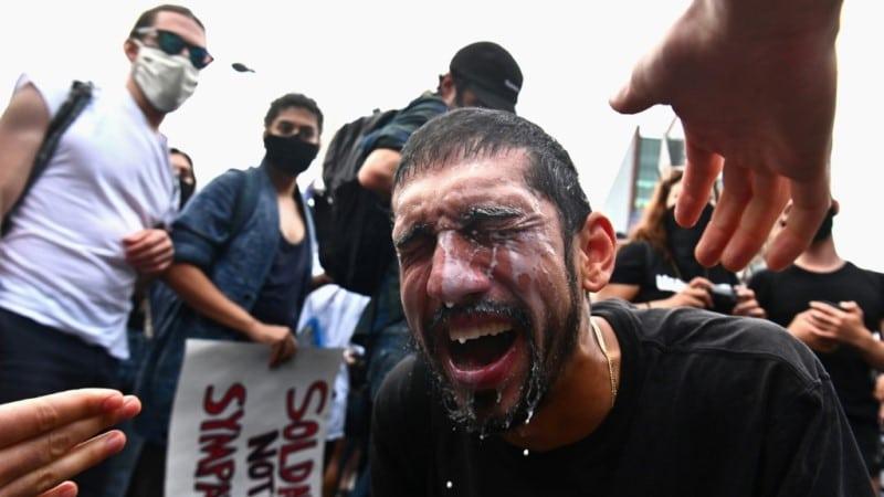 Protester in New York