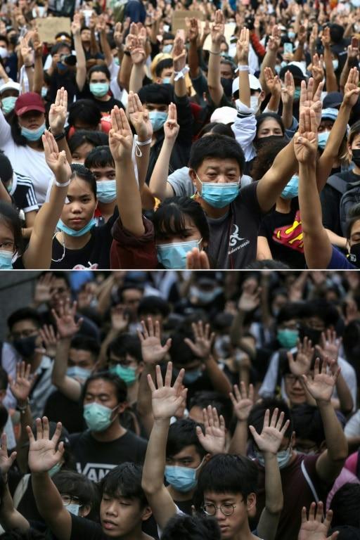 Protesters Symbolize Five Demands