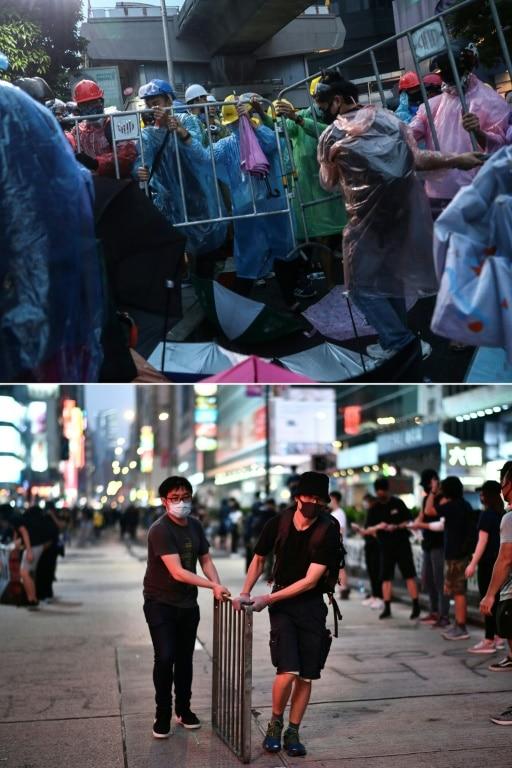 Protesters in Bangkok and Hong Kong