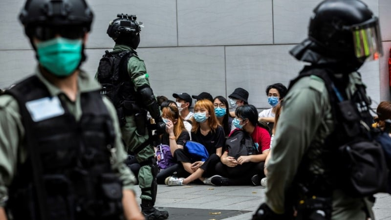Protester's in Hong Kong