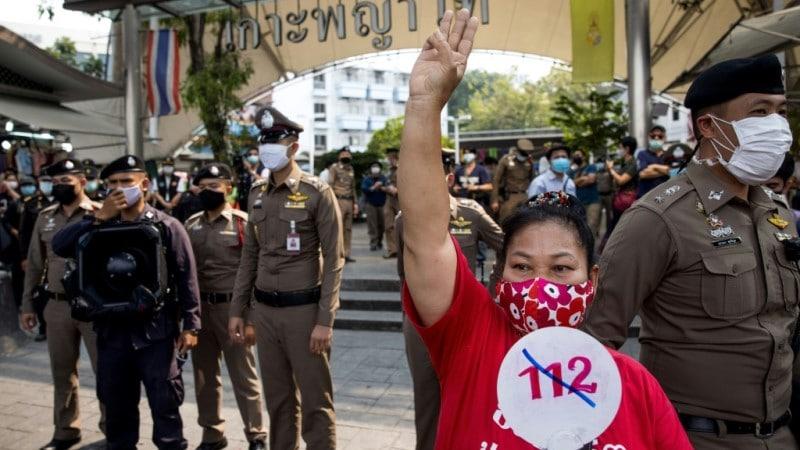 Protesting Thai Woman