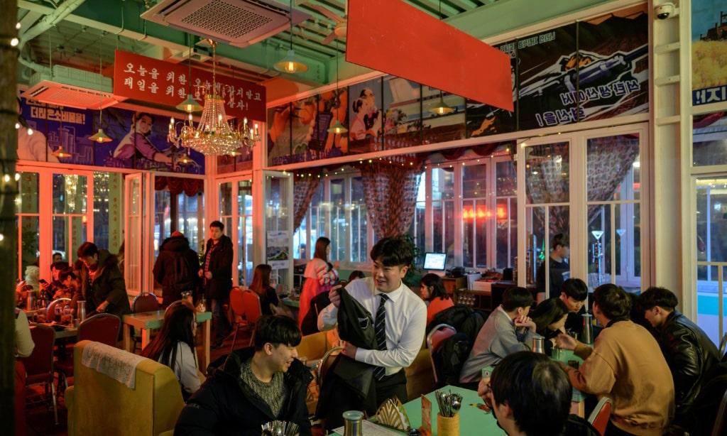 Pyongyang Bar Clients South Korea.afp