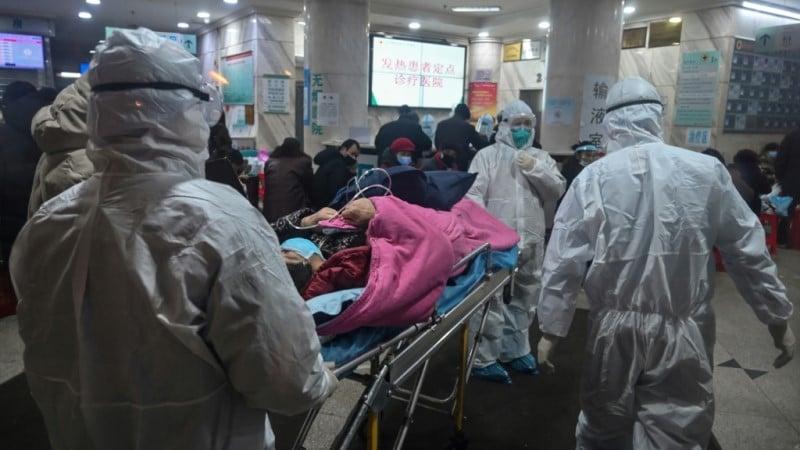 Red Cross Hospital in Wuhan