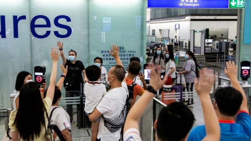 Residents Leaving Hong Kong