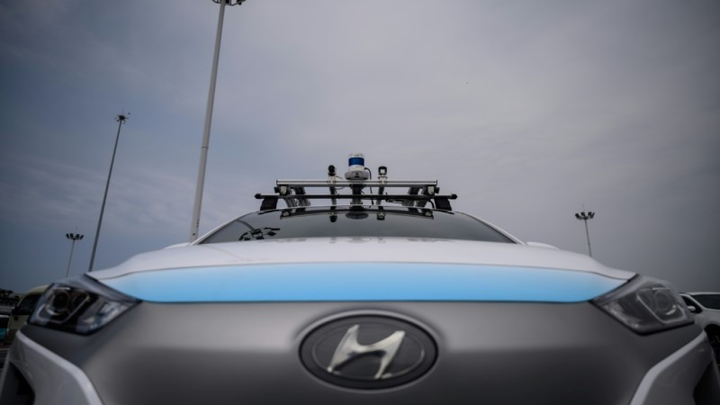 Rideflux's Self-Driving Car in South Korea.afp