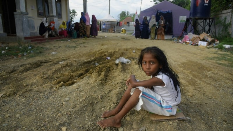 Rohingya Refugees on Indonesian Coast