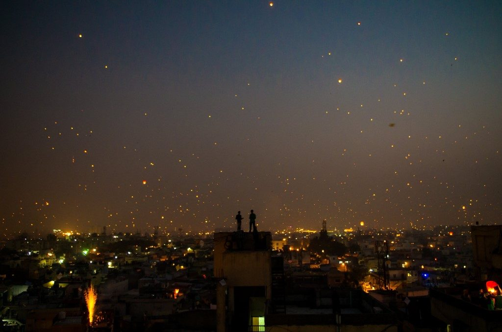 Sakranti at Night - Ahmedabad, India