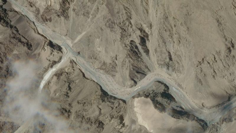 Satellite Image of Galwan Valley, on June 16, 2020.afp