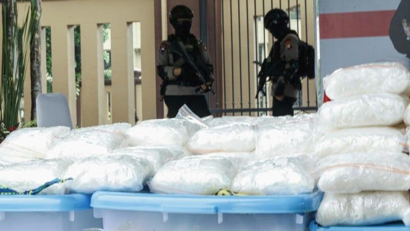 Seized Methamphetamine in Jakarta