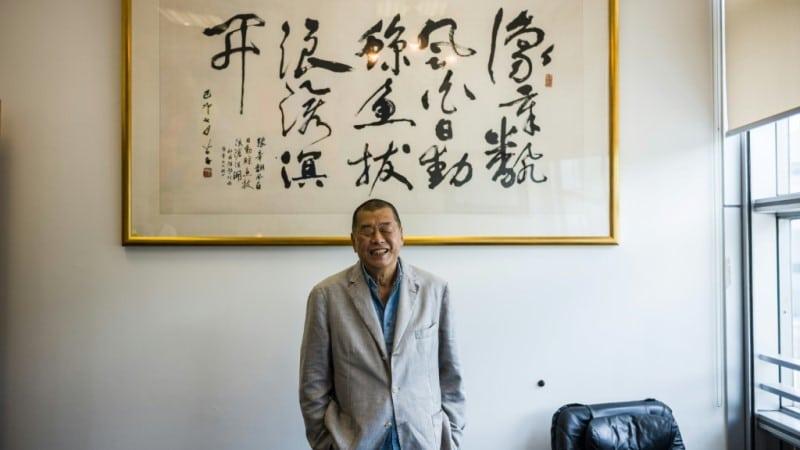 Self Described Troublemaker Jimmy Lai.afp
