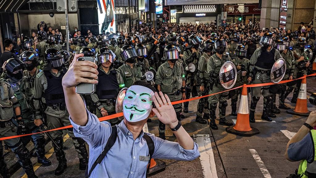 Selfie Police Barricade - HK Halloween ©Studio Incendo