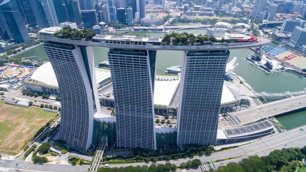 Singapore Drone View