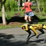Singapore Robot Dog Assist in Social Distance Patrol