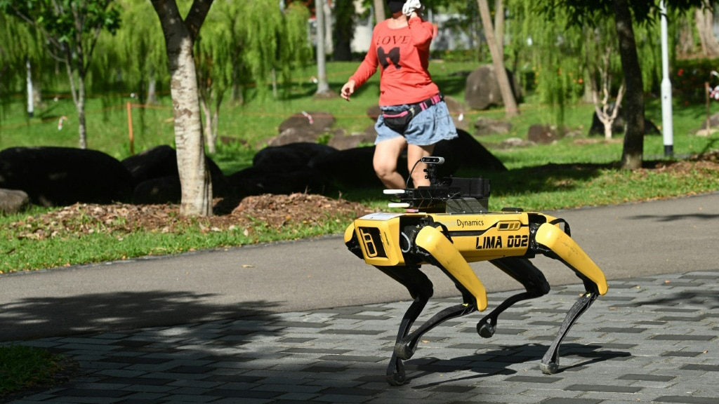 Singapore's Remote Controlled Hi-Tech Hound.afp