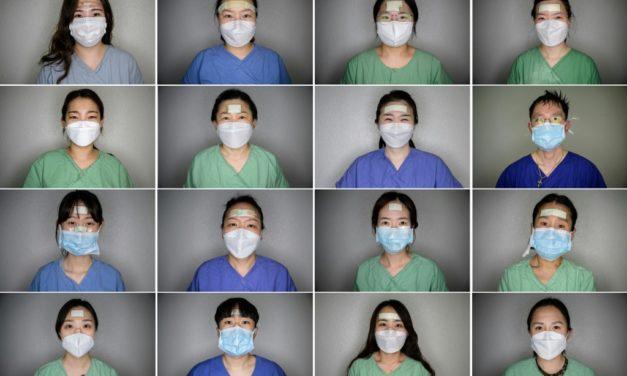 S. Korean Nurses' Bandages Become Badges of Honor