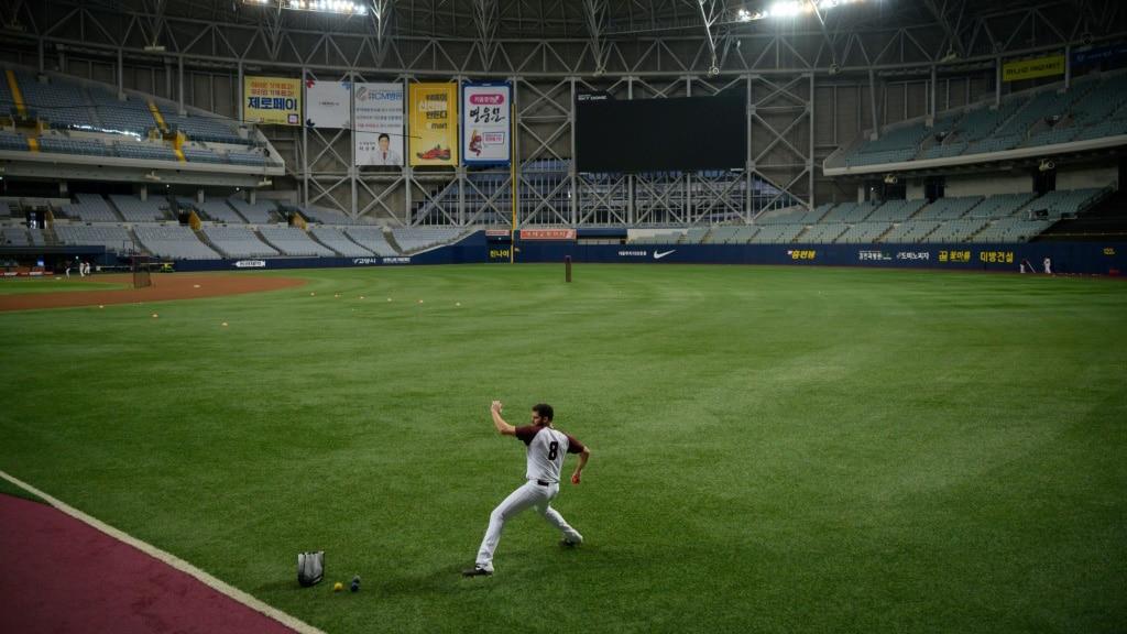 South Korea's Baseball Behind Closed Doors.afp