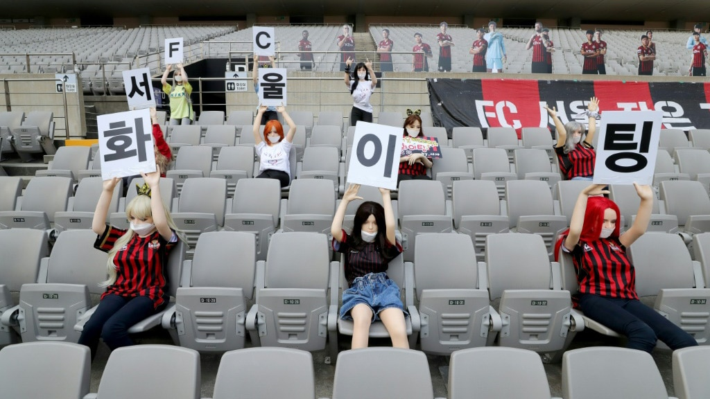 Spectators Barred from K-League Games.afp