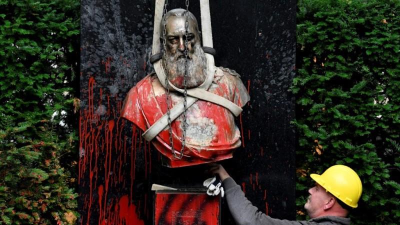 Statue of King Leopold II of Belgium.afp