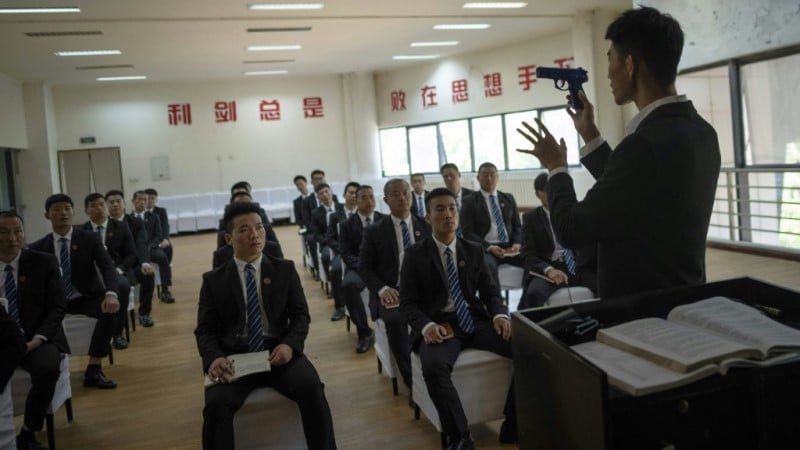 Students at Genghis Security Academy